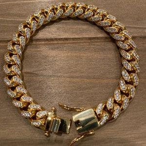 Other - Gold Cuban Link Bracelet 10mm